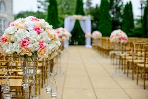 gold chairs wedding planning